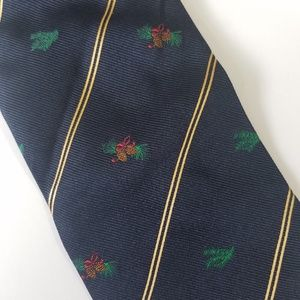 Burberrys London Holiday Pine Cone Navy Tie